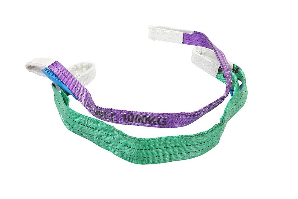 Groene en paarse hijsbanden